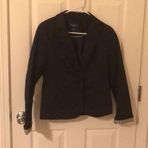 Navy single button blazer